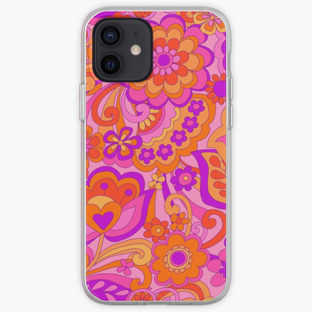 Flower Power. 60's inspired happy design iPhone Case & Cover