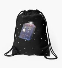 Police Box in Outerspace. Drawstring Bag