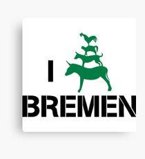 I Love Bremen Town Musicians  Canvas Print