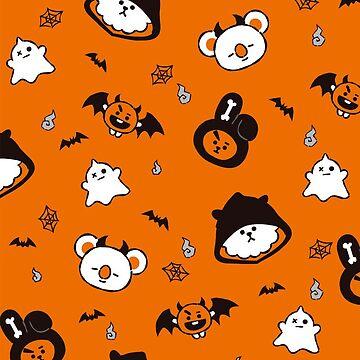 BT21 Halloween Pattern - Orange version by ZeroKara