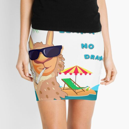 NO Drama, Smokin Llama Mini Skirt