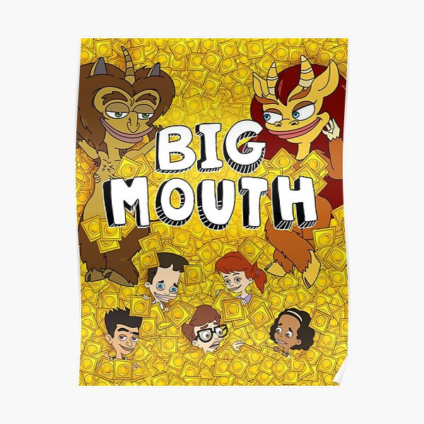 Big Mouth Faces Poster