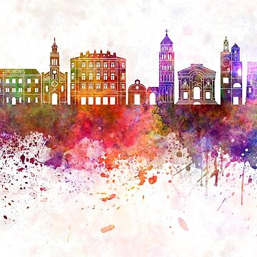 Split skyline watercolor background  by paulrommer