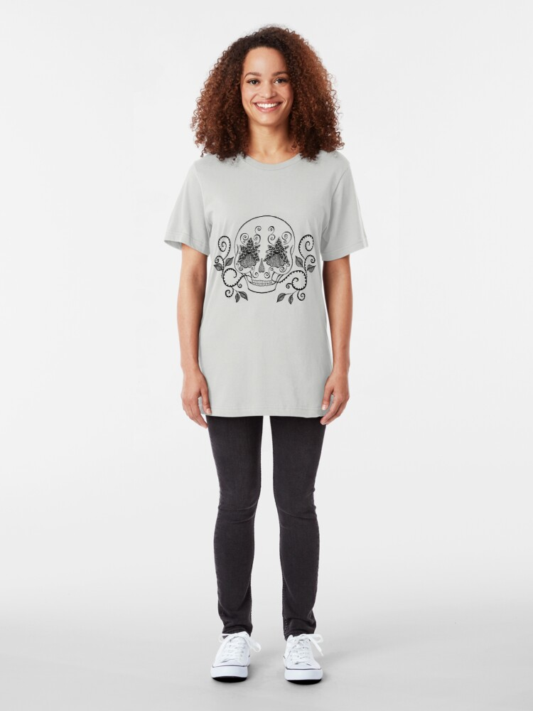 Alternate view of Orchid Eye Skull Slim Fit T-Shirt