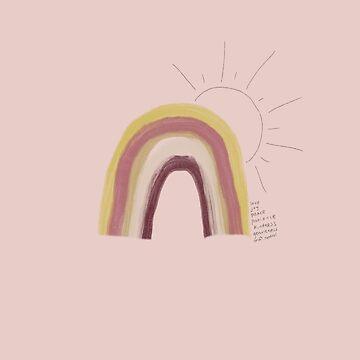 Rainbow Nursery Art by dotandink