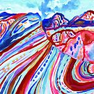 Abstract Rainbow Mountain  by TigaTiga