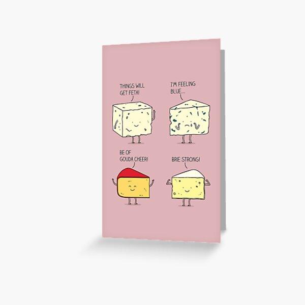 cheesy puns Greeting Card