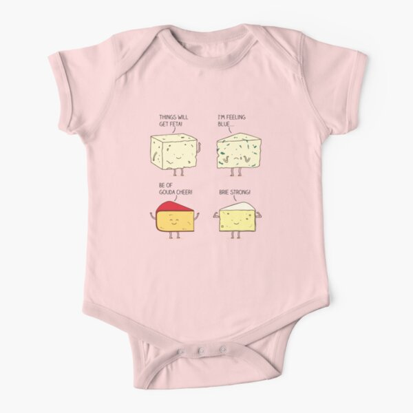 cheesy puns Short Sleeve Baby One-Piece