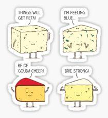 cheesy puns Sticker