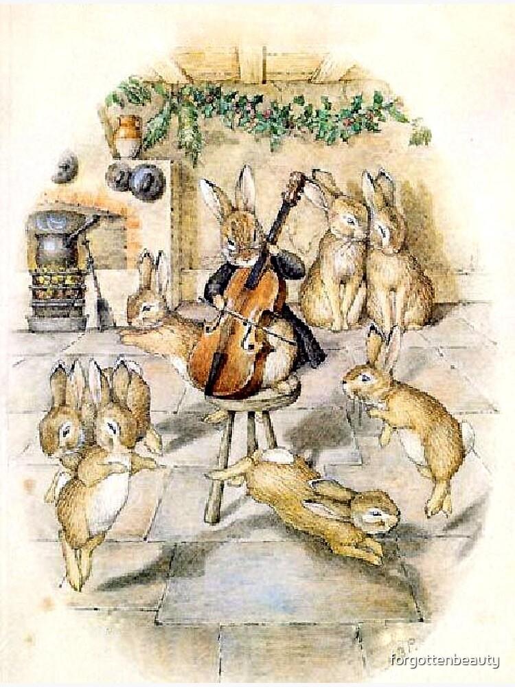 Beatrix Potter Christmas Bunnies Handmade Christmas Card