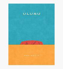 Uluru Minimal Retro Photographic Print