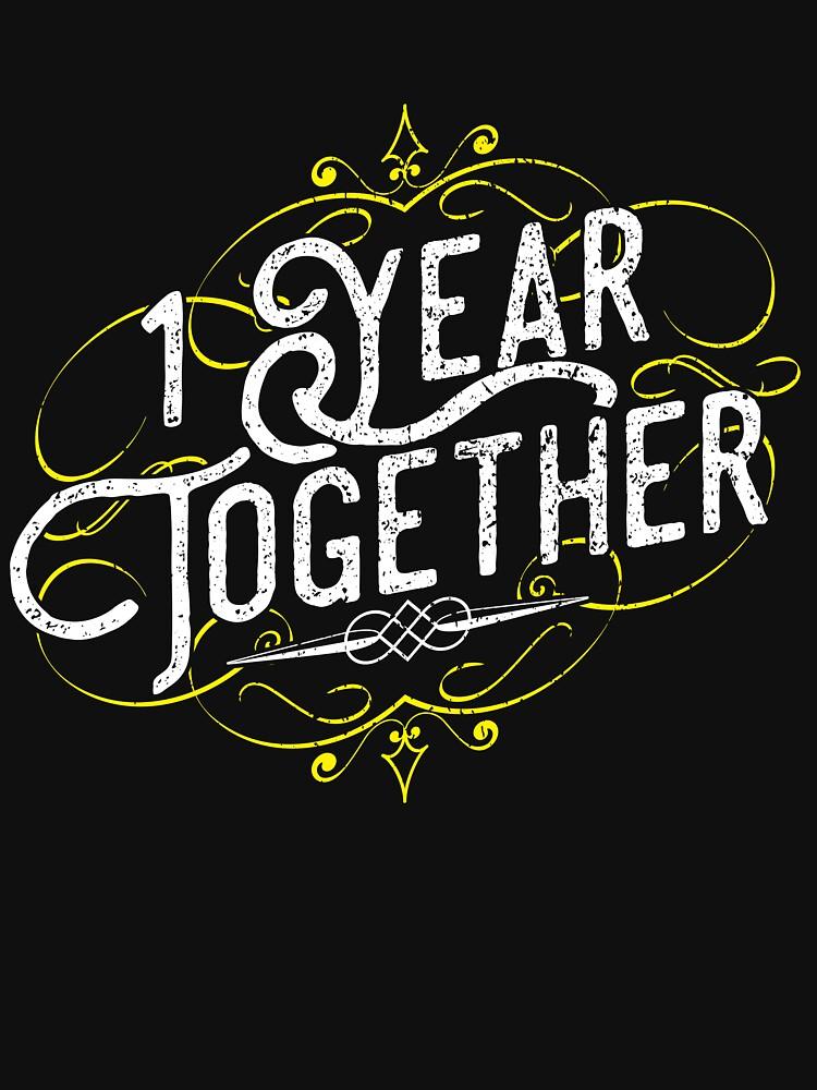 '1 Year Together' Amazing Couple Anniversary Gift by leyogi