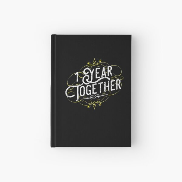 '1 Year Together' Amazing Couple Anniversary Gift Hardcover Journal