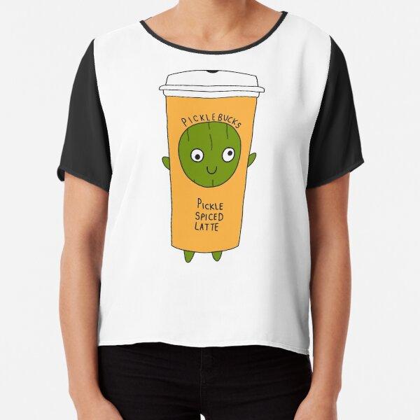 Pickle Coffee Pumpkin Spiced Latte Chiffon Top