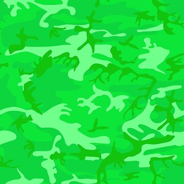 Lime Green Camo Pattern by BuzzEdition