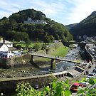 Riverside Road and the West Lyn River at Lynmouth by trish725