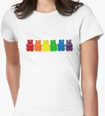 Rainbow Of Gummi Deliciousness  Women's Fitted T-Shirt