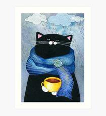 Rainy Day Coffee  Kunstdruck