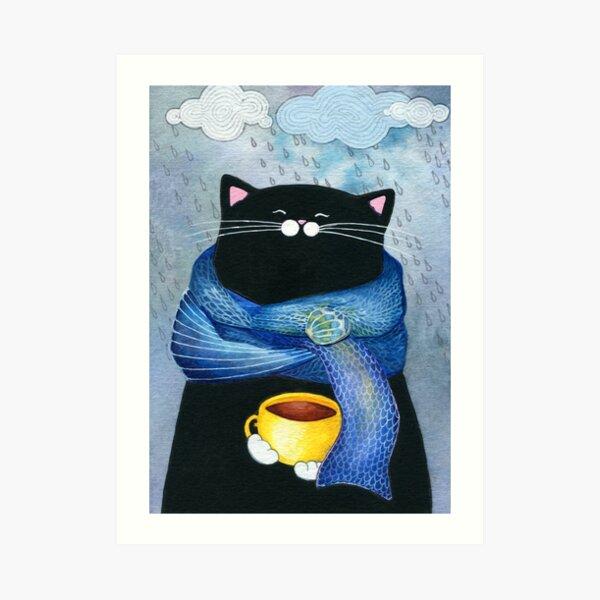 Rainy Day Coffee  Art Print