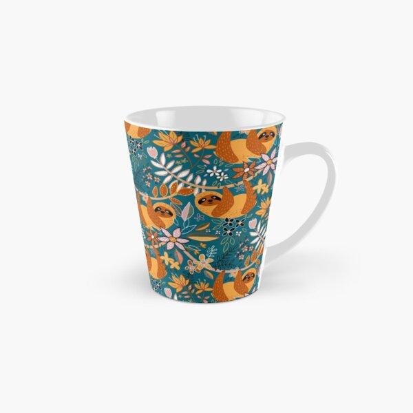 Happy Boho Sloth Floral  Tall Mug