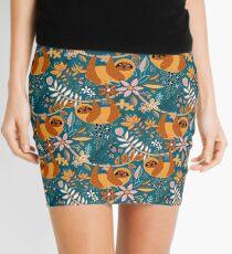 Happy Boho Sloth Floral  Mini Skirt