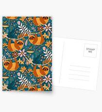 Happy Boho Sloth Floral  Postcards