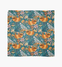 Happy Boho Sloth Floral  Scarf