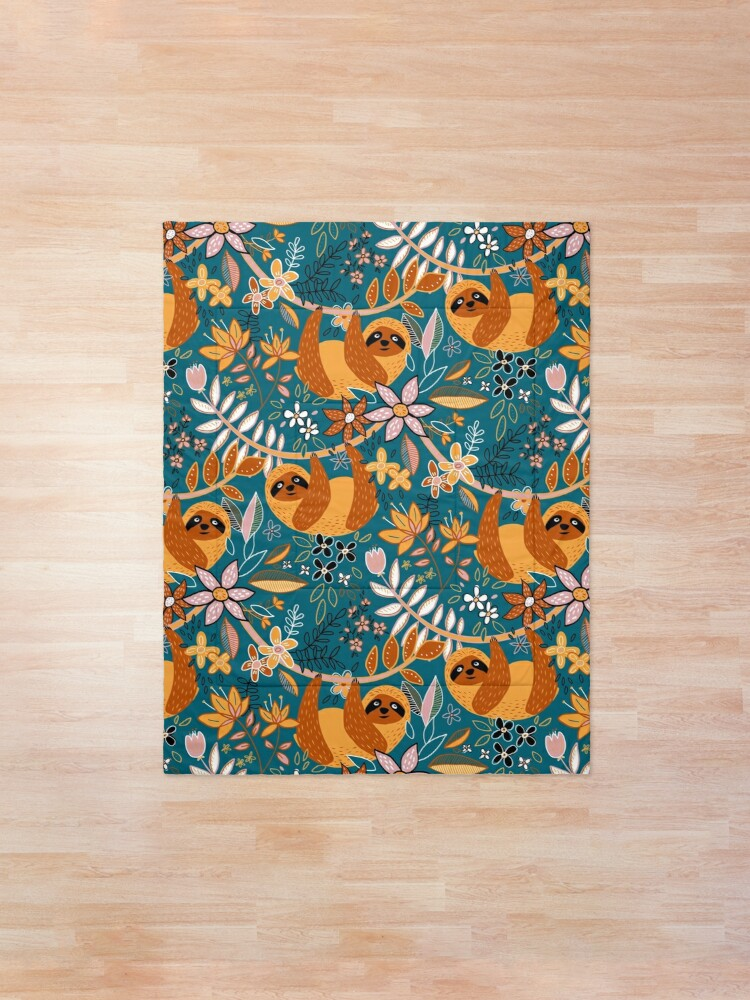 Alternate view of Happy Boho Sloth Floral  Comforter