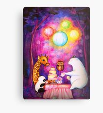 Magical Midnight Tea Party Metal Print