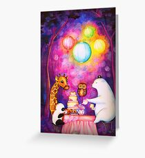 Magical Midnight Tea Party Greeting Card