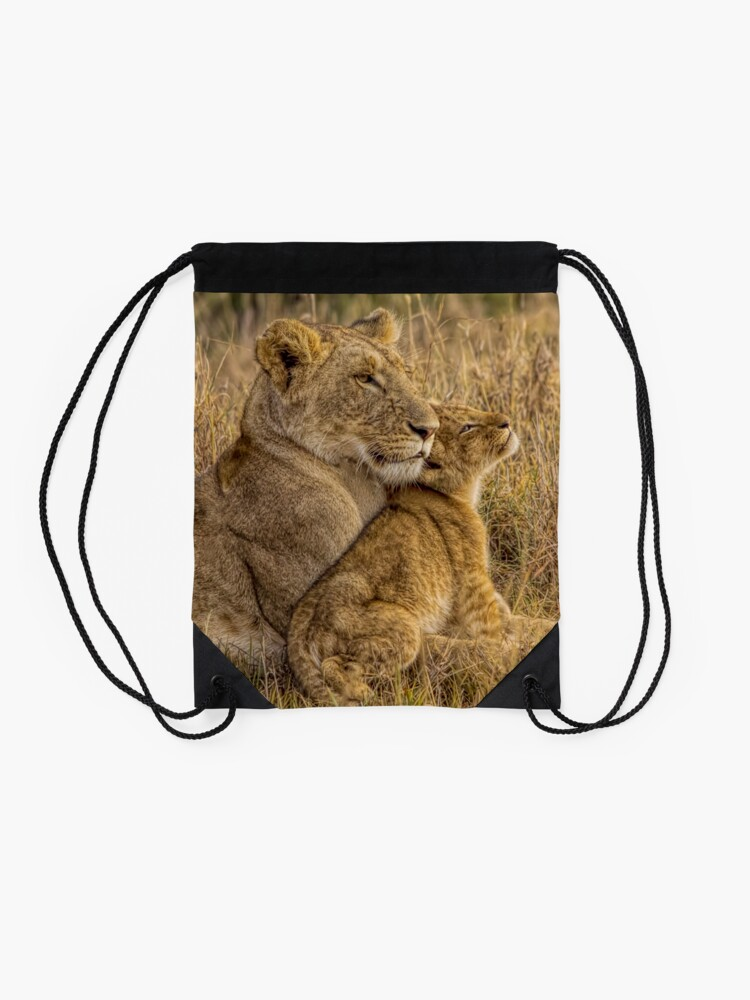 Alternative Ansicht von Lion Baby mit Mutter Turnbeutel