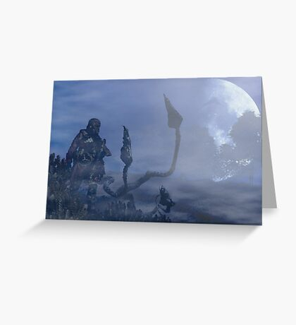 dark creatures in the night Greeting Card
