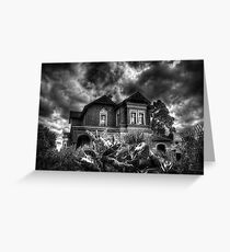 Black and White Vision of the House  Greeting Card