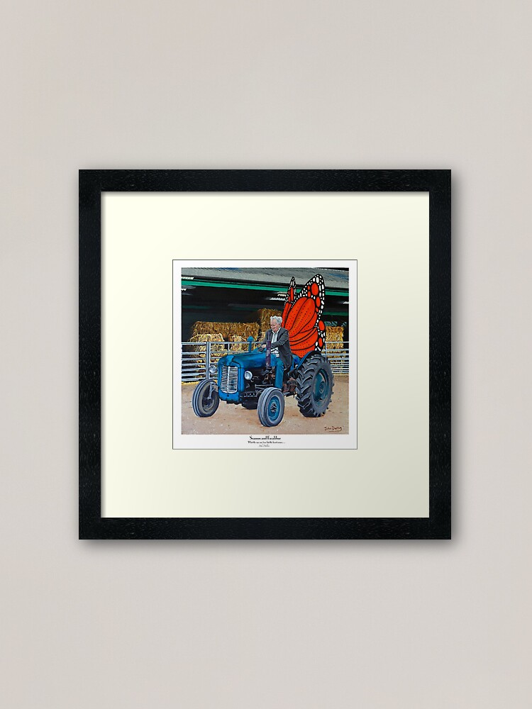 Alternate view of Seamus and Excalibur Framed Art Print