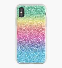 Rainbow Ombre Glitter iPhone Case