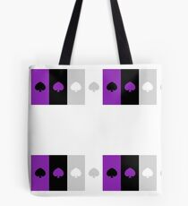 ASEXUAL FLAG ASEXUAL ACE OF SPADES ASEXUAL T-SHIRT Tote Bag
