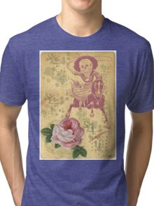 Day Of The Dead Cowgirl Cinco De Mayo Tri-blend T-Shirt