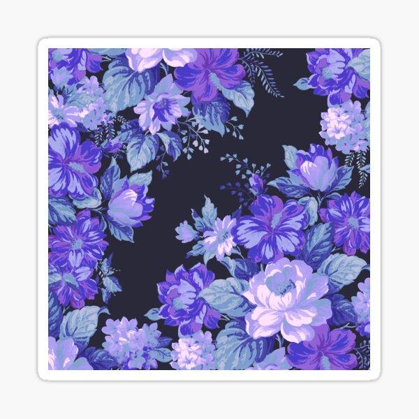Midnight Floral Pattern Sticker