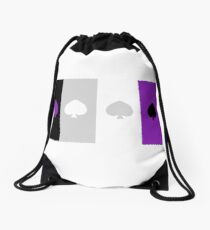 ASEXUAL FLAG ASEXUAL ACE OF SPADES ASEXUAL T-SHIRT Drawstring Bag