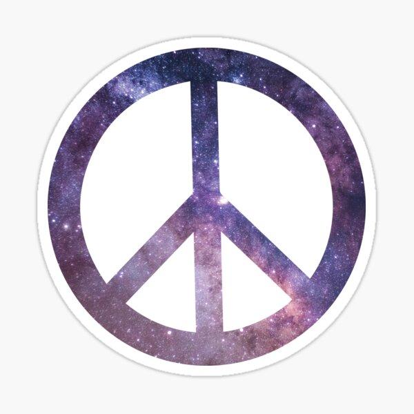 Galaxy Peace Sign Sticker