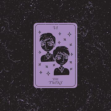 Tarot Card - V - The Twins by SydneyKoffler