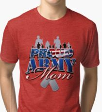 Proud Army Mom Tri-blend T-Shirt
