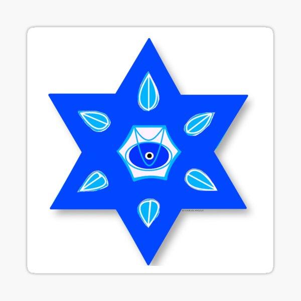 Star of David Magen Israel Hebrew Jewish Judaism Sticker