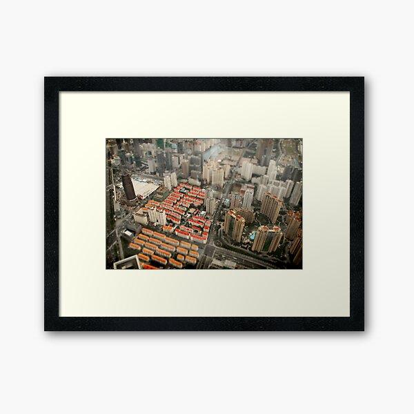 Pocket China - SimCity Framed Art Print