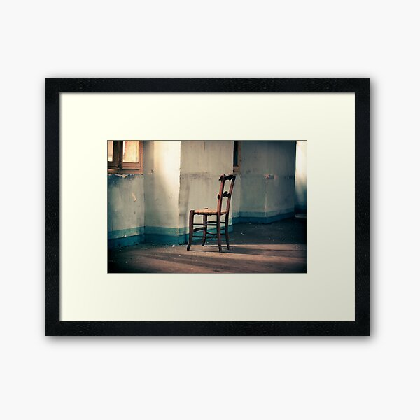 Dying place - Chair Framed Art Print
