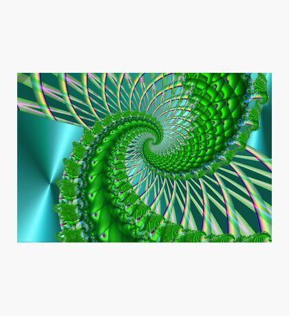 Quilted green Photographic Print