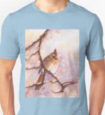 MAGICAL Female Winter Cardinal Copetón Unisex T-Shirt