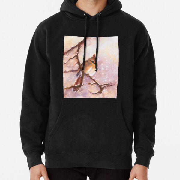 MAGICAL Female Winter Cardinal Copetón by CheyAnne Sexton Pullover Hoodie
