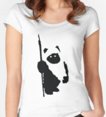 Ewok Silhouette Women's Fitted Scoop T-Shirt