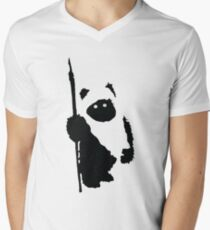 Ewok Silhouette Men's V-Neck T-Shirt